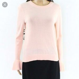 J. Crew Bell-Sleeved pink sweater. Like New